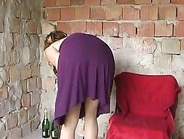 Kinkycore studio: Champagne enema, squirting orgasm, enema via speculum