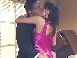Sweaty sex in Long purple elegant classy satin prom dress satingasm
