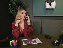 Cherry Torn is caught and punished by Julia Ann, who humiliates and finger fucks her so she nev...
