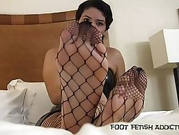 I see you down there looking up at my incredible long toes and big feet. I keep them in perfect...