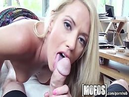 Mofos - Hot blonde gives her BF a show