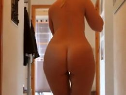 My girlfriend is a thick woman but you can't deny her sex appeal. She let me film her whil...