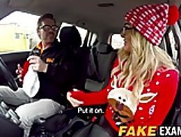 This busty blonde bitch knows damn well that she can't drive no car. But she is ready to suck a...