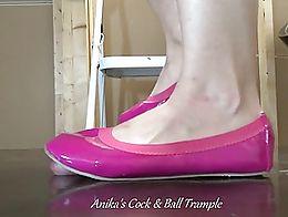Anika crushing in Ballet Flats