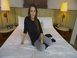 GDP young brunette casting