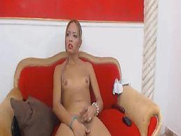 Shemale Princess faps Hard Tranny Cock