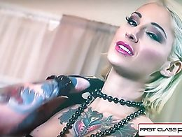 Tattooed Kleio Valentien is one dirty little whore. She loves to get fucked in every single one...