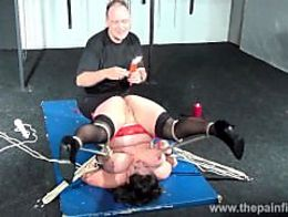 Andreas mature hot waxing nightmare amateur pussy torture of bbw slave...