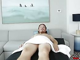 You guys will have to take extra caution if you gonna walk into this sexy babes massage room as...