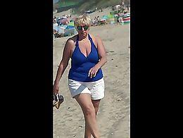 Sexy MILF at the beach