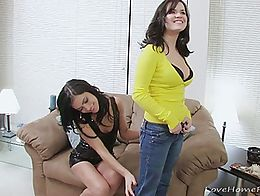 When this babe takes off her girlfriend's jeans, she will enjoy licking her pussy for a while. ...