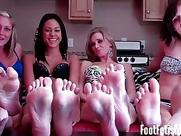 I don't know if all you foot fetish freaks will be able to handle this. Four pairs of sexy feet...