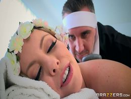 Brazzers - Britney Amber loses massages cock