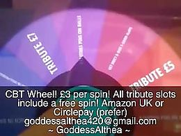 are you brave enough to play a CBT game with Me? £3 per spin! all tribute slots include a free...