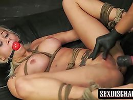Beautiful and busty-rific Bibi Miami with her blonde hair and tight, firm body submits her enti...