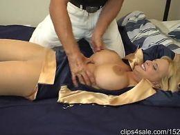 Flight Attendant Holly Halston - M/F, Ticklish Blonde Bimbo!