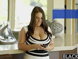 BLACKED Busty Babe Angela White Fucks BBC