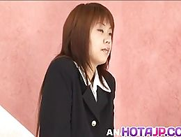 Kaede Oshiro gets panty in ass while is fucked cum on