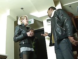 Mature blonde wife cheating on husband with black man he watches them fuck cuckold interracial ...