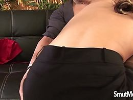 Horny milf unbuttons her guys trousers and suck his dick before taking that fat dick deep insid...
