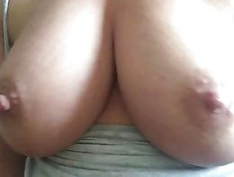 Great tits bouncing while I play with a very wet pussy Feb 2018