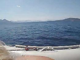 Fuck hot ass girlfriend in boat, and making cum