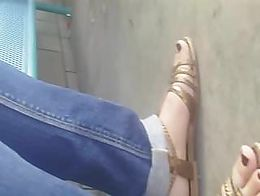 While waiting for her bus I took a knee at her side, fired up the cam and shoot at will. Very h...