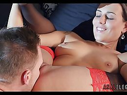 High Class Anal with Brunette Babe in Stockings High Hee