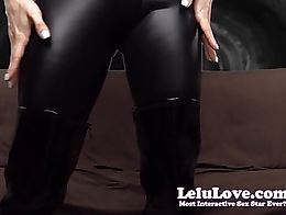 In this custom video, I'm back in my catsuit all leather and latex'd up while teasing and taunt...