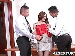Being a good team player is important, so go ahead and fill up all her holes. Double-penetratio...