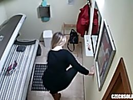 Here is the first hidden camera in solarium!! You havent seen this before! We breached into the...