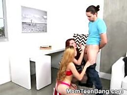 Pretty Blonde Teen Lolo Punzel Banged In Threesome With MILF
