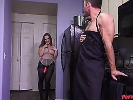 Summer Hart, Lance Hart, big tits, pegging, pantyhose, strapon, slut training, sissy training, ...