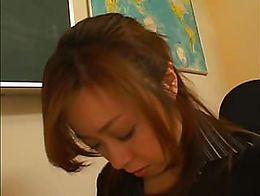 Cute Japanese schoolgirl has an obedient lesbian teacher.