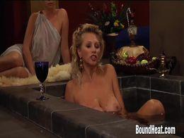 Busty Lesbian Madame Big Tit Slaves In Orgy