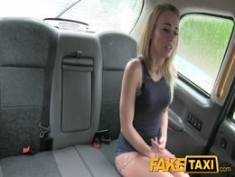 FakeTaxi Great ass tight shaved pussy