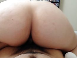 Secretly filming while her back is turned watching her ass bounce on my dick.