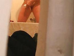 Wife shaving pussy