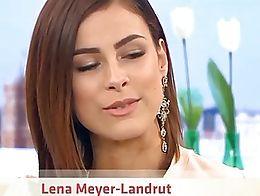 Lena Meyer Landrut Upskirt Black Mini German TV Show Oops