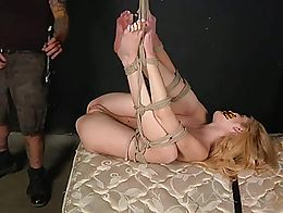 bounded girl fucked hard