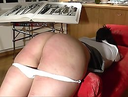 knickers down, caned for her own good