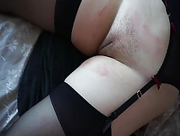short video of dripping hot wax on my fuckbuddies unshaved pussy as she is tied to the bed in h...