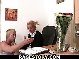Blonde cheater gets punished hard and rough