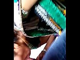 Indian aunty in saree giving blowjob to devar h