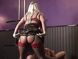 BEING UNDER MY ASS IS A DREAM FOR MANY SLAVES ! THIS LUCKY ONE HAS ALSO A GOLDEN DRINK !