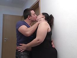 Big mother kiss suck fuck young son